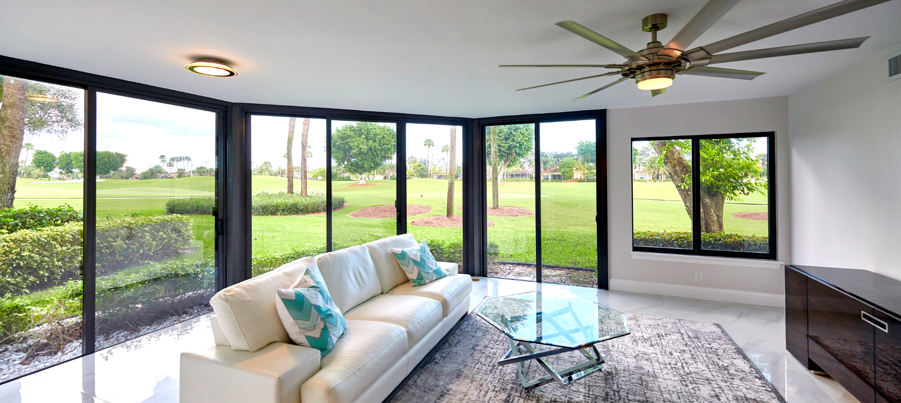 Bronze Frame Impact Sliding Glass Doors